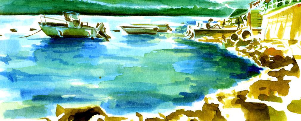 illustration watercolor sketchbook