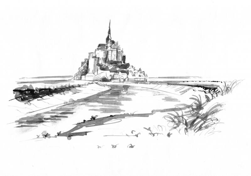 02.08.2004: Mont St. Michel, France